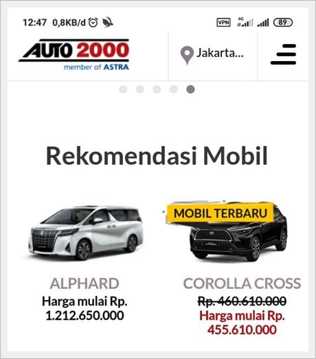 Mobil Toyota di Auto2000