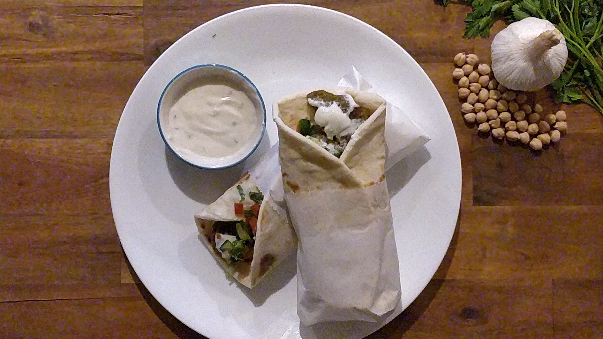 Healthy Air-Fried Falafel Wrap