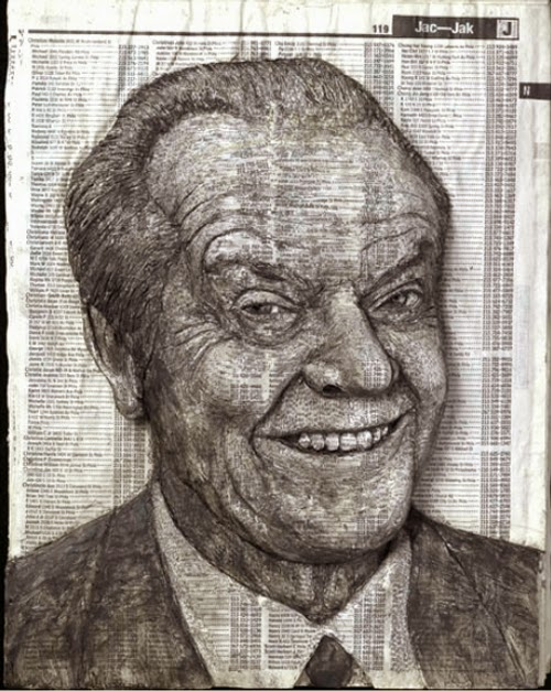 06-Jack-Nicholson-Phone-Books-Sculpture-Carving-Cuban-Artist-Alex-Queral-WWW-Designstack-Co