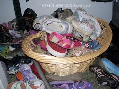 basket full of shoes