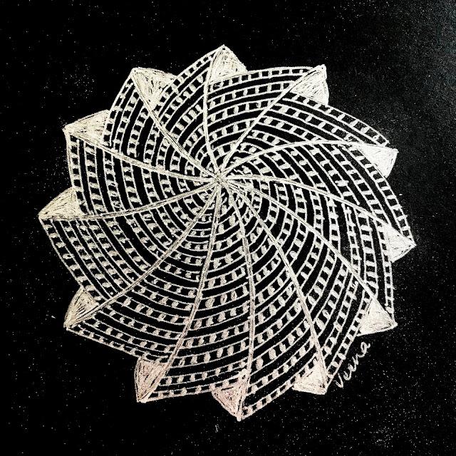 Phicops- Zentangle- variation
