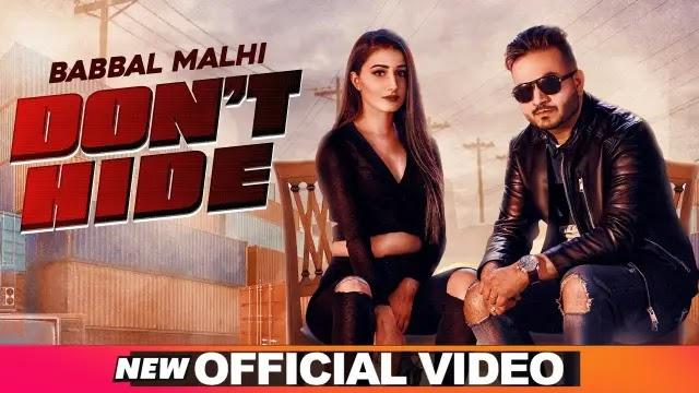 Don't Hide Lyrics - Babbal Malhi