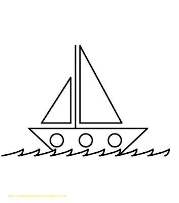 Mewarnai Gambar Kapal Laut - 10