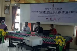 Panitia Pemilihan Kecamatan (PPK) di Banjarbaru Tuntaskan Rekapitulasi DPHP Pemilihan 2020