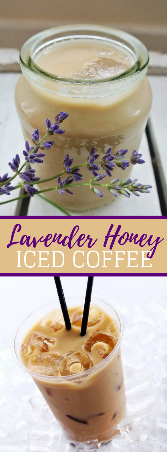 Lavender Honey Iced Coffee (paleo-friendly) #healthydrinks #dairyfree