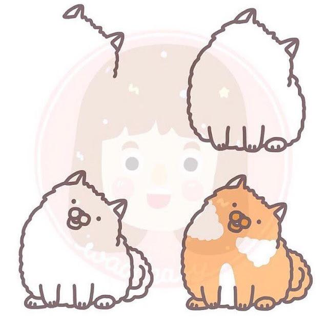 Cara menggambar kucing untuk anak-anak 2