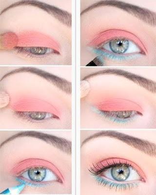 maquillaje de ojos rosa