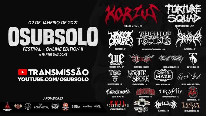 Conheça as bandas do Festival O Subsolo Festival Online Edition II