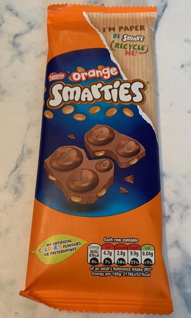 Orange Smarties Chocolate Bar