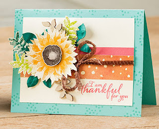 Stampin' Up! Painted Harvest Sunflowers Card ~ 2017 Holiday Catalog