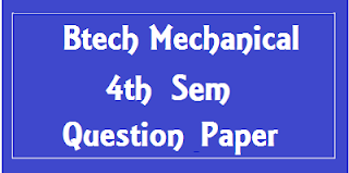 BTech Mechanical Engg. 4th Sem Previous Papers Mdu