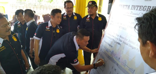 DPD KPK Tipikor Bandar Lampung Tandatangani Fakta Integritas