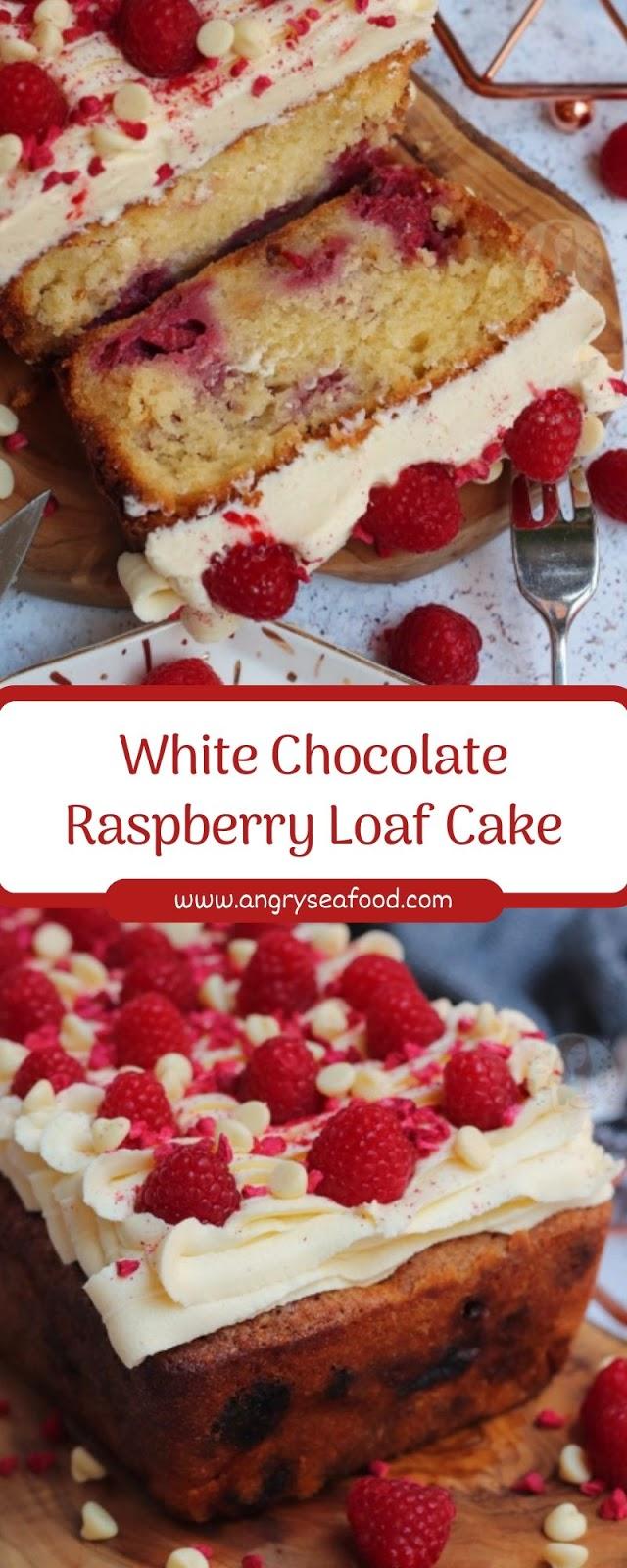 White Chocolate Raspberry Loaf Cake