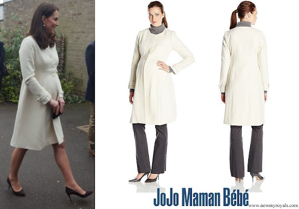 Kate Middleton wore JoJo Maman Bebe Maternity Princess Coat