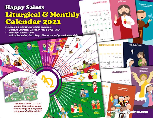 Happy Saints: Happy Saints Calendar 2020-2021 is now ...