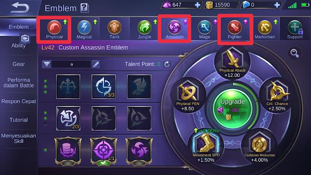 Set Emblem Thamuz Hero Mobile Legends