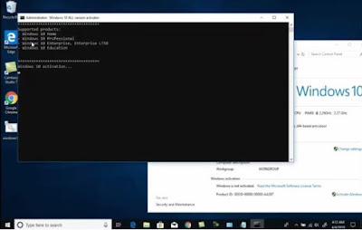 cara aktivasi windows 10 dengan CMD