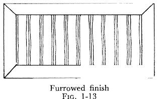 Dressing of stones Furrowed finish