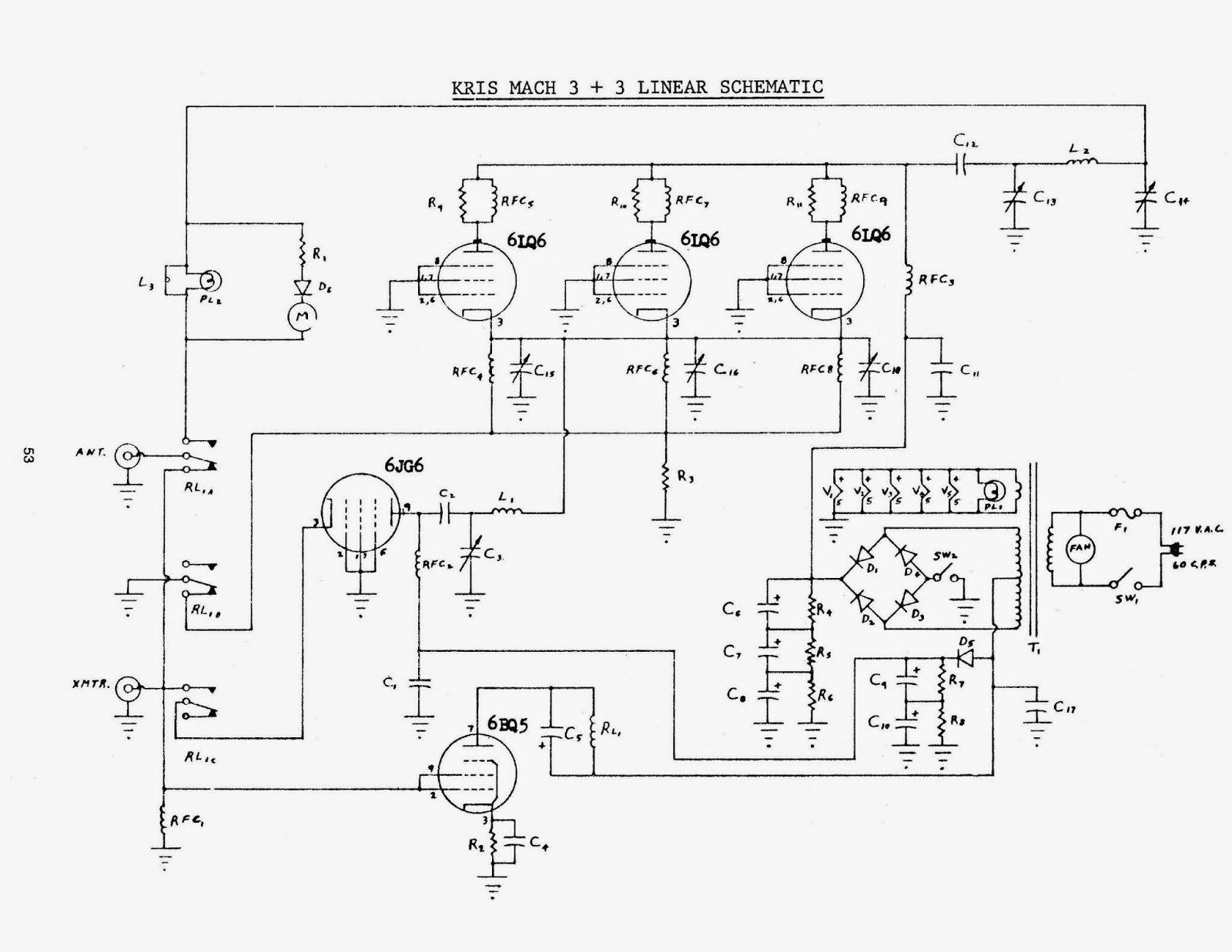 Cb Radio Linear Amp Schematic Circuit Wiring And Diagram Hub 27mhz Receiver 91nr712 Amplifier Rh Blogspot Com Palomar Amplifiers For Radios Home