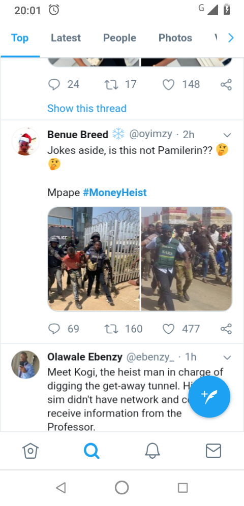 #MoneyHeist: One Of The Robbers Is A Lookalike Of Online Influencer 'Pamilerin' 2