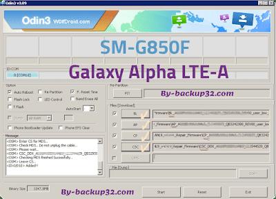 سوفت وير هاتف Galaxy Alpha LTE-A موديل SM-G850F روم الاصلاح 4 ملفات تحميل مباشر