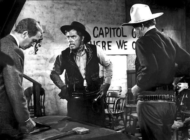 James Stewart, Lee Marvin and John Wayne