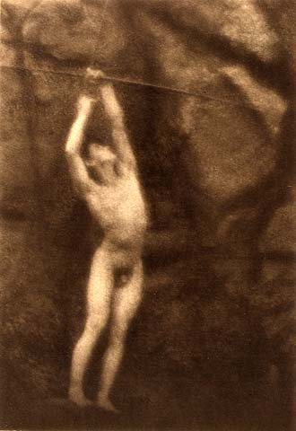 Male nude, F. Holland Day. Source: Scan from the book Suffering the ideal.
