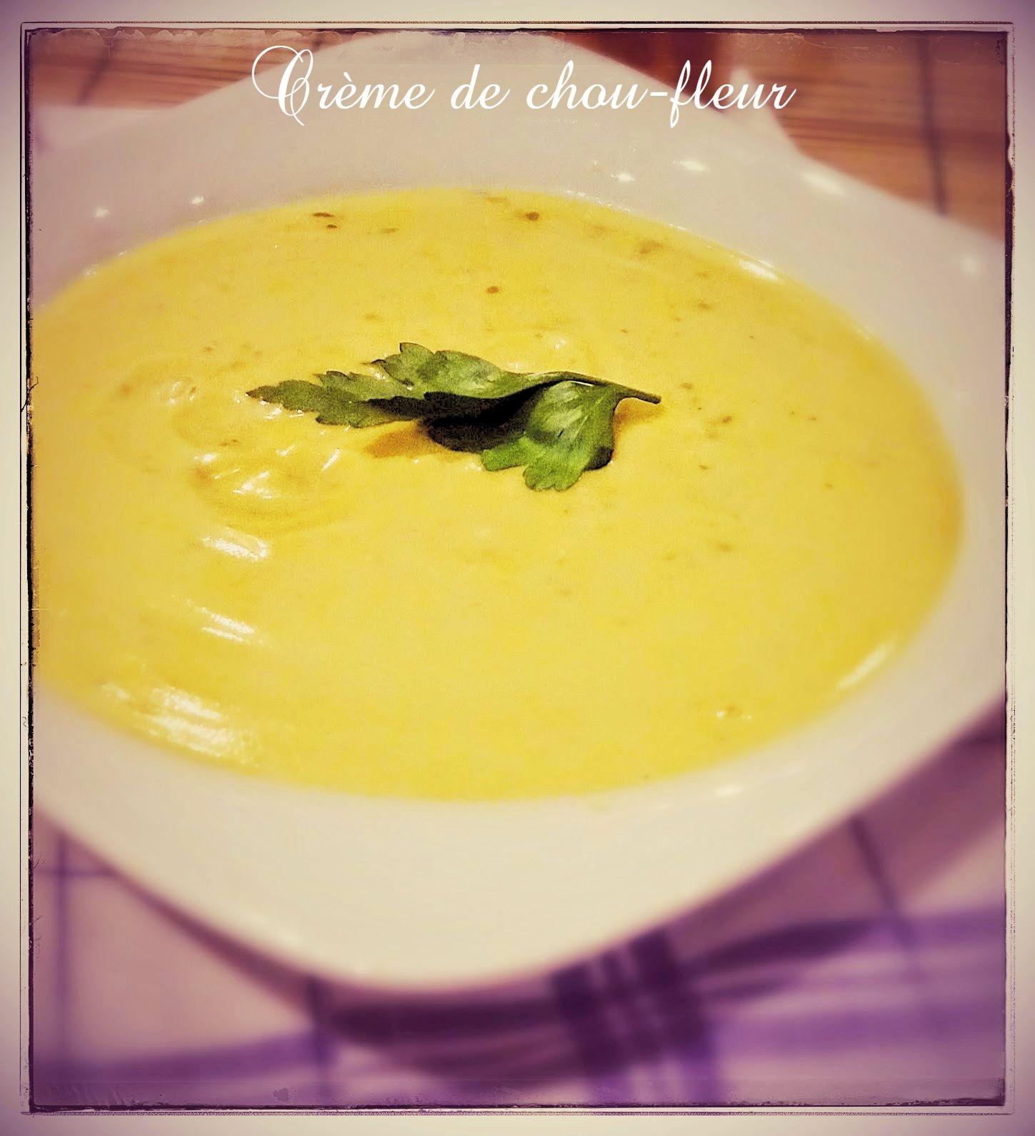Crème de chou-fleur au Thermomix | ~~ Thermomix & cie....