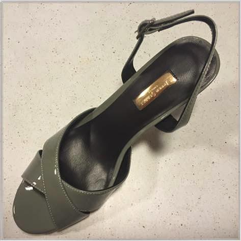 Upper Street Patent Grey Sandals