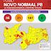 Casos de coronavírus caem na PB, e 84% das cidades entram na bandeira amarela