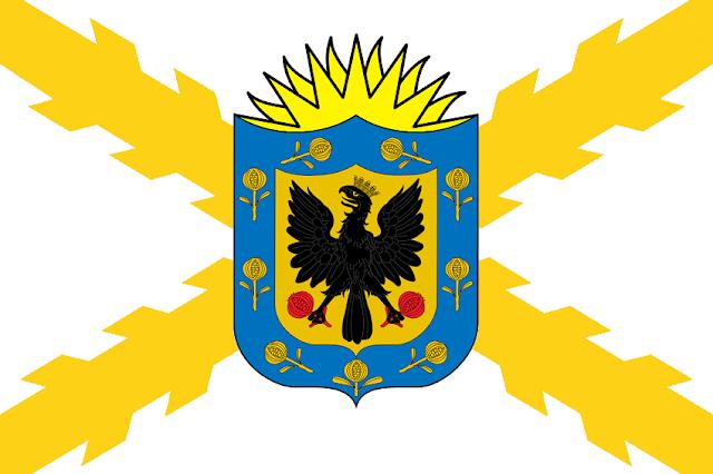 Bandera del Estado Neogranadino diseñada por Cabeleira Santoro