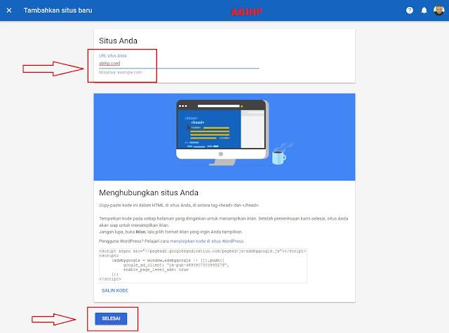 Masukkan domain lalu klik selesai untuk menambahkannnya.