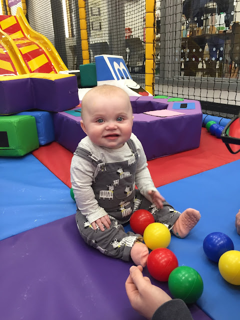 Connie B at Soft Play at the John Bunyan Sports and Fitness Centre, Bedford