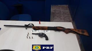 PRF prende homem com porte ilegal de arma de fogo na Linha da Conquista