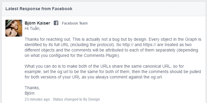 Facebook Comment Plugin - HTTP and HTTPS