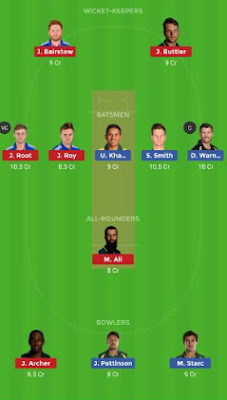 AUS vs ENG dream 11 team | ENG vs AUS
