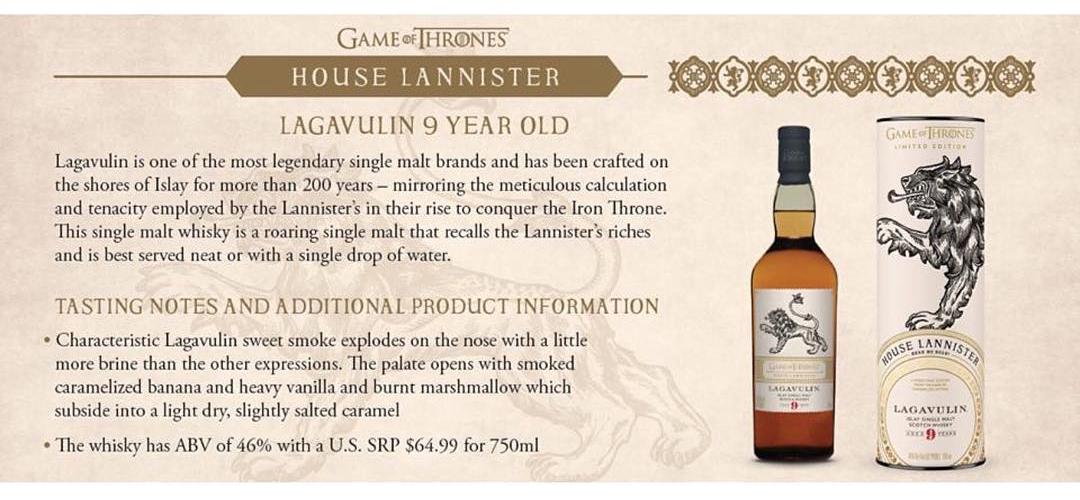 House Lannister - Lagavulin 9YO