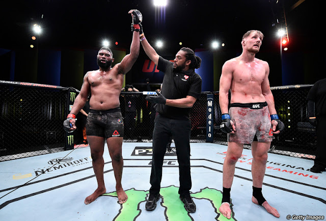Curtis Blaydes wins Alexander Volkov UFC On ESPN 11