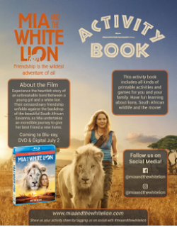 mia and the white lion activity book