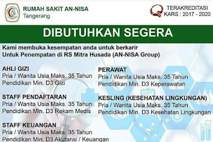 Info Lowongan Kerja Rumah Sakit Mitra Husada Tangerang
