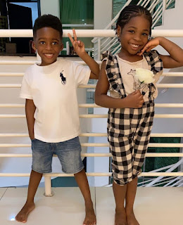 Tiwa Savage son JAMIL Jam Jam and dAVIDO Daughter Imade
