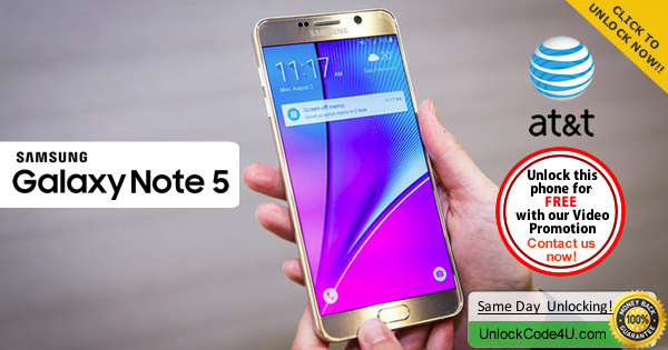 Factory Unlock Code Samsung Galaxy Note 5 from At&t
