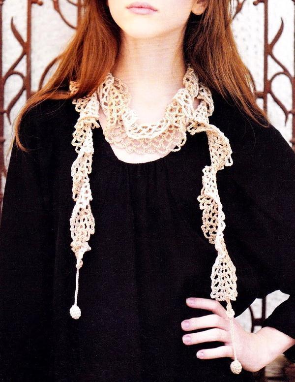 Easy Lace Crochet Scarf - Crochet Accessory - Stylish