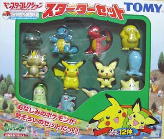 Pokemon figure Tomy Monster Collection Starter Set