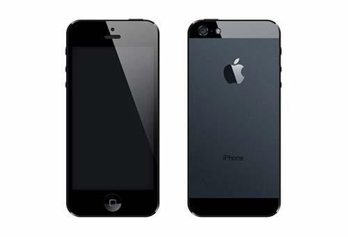 iPhone 5 Black PSD Template