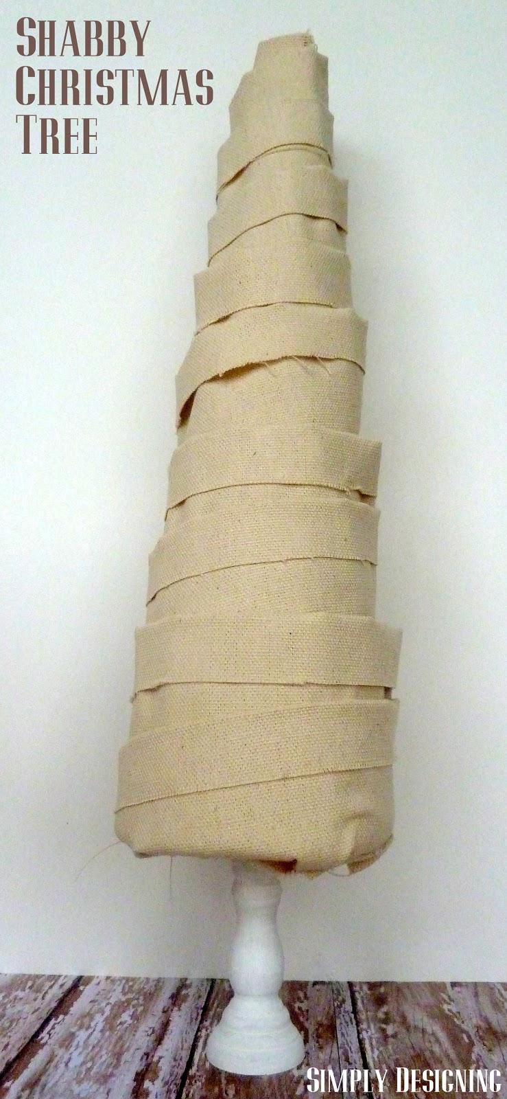 Shabby Fabric Christmas Tree Pottery Barn Knock Off