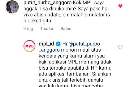 Cara Mengatasi Launching the App on Emulator is Blocked MPL Mobile Premier League