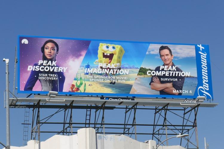 Peak Discovery Imagination Competition Paramount plus billboard