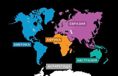 Картинка - 5 континентов