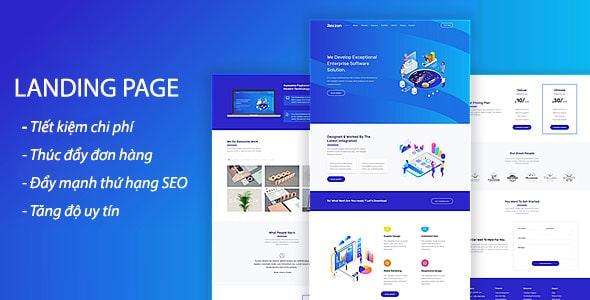 Dịch vụ rip và thiết kế landing page nền tảng blogspot giá rẻ